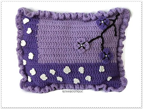 35-28cm Purple decorative pillow Crochet pillow