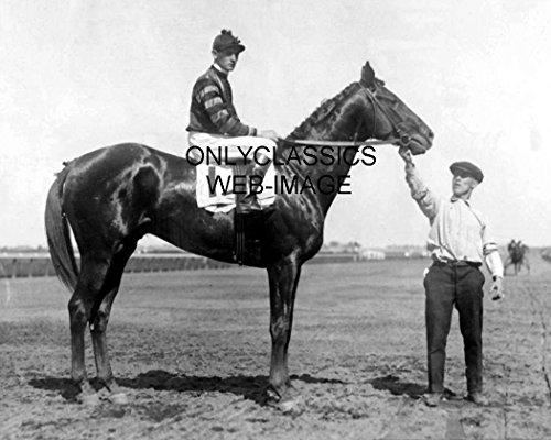 OnlyClassics 1920 Man-O-WAR Jockey Clarence Kummer BELMOUNT Park Racetrack Horse Racing Photo ()