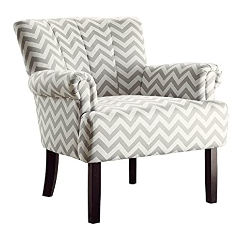 Homelegance Langdale Flared Arm Accent Chair Chevron, Gray
