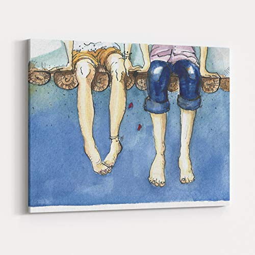 Rosenberry Rooms Canvas Wall Art Prints - Watercolor Illustr