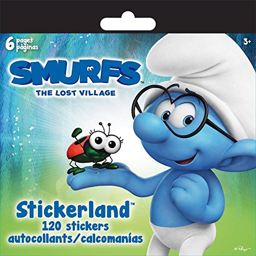 (Sandy Lion Smurfs 3 Movie Mini Stickerland Stickers Book - 6)
