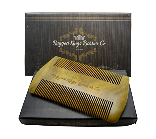 Beard Comb All Natural Sandal Wood For Beard Mustache Hair Rugged Kings