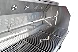 EXTRA LARGE Stainless Steel 59 Inch Charcoal Spit