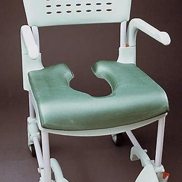 Patterson Medical Chair Clean - Asiento blando caliente para silla de ducha con agujero para inodoro, verde