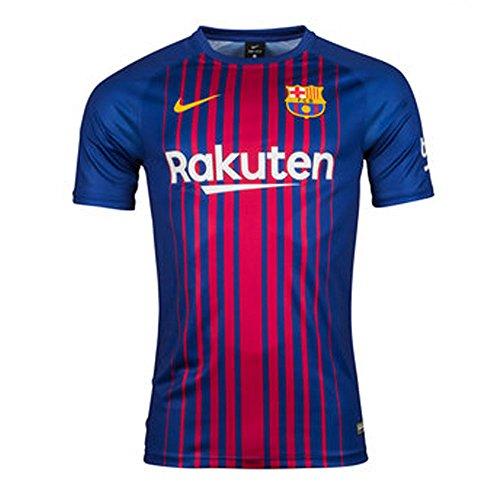 2017-2018 Barcelona Home Nike Supporters Tee (10 Nike Replica Home Jersey)