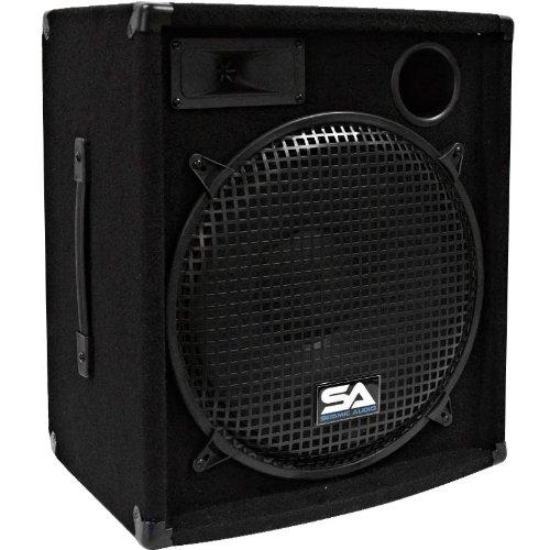 Seismic Audio - Pair of 15'' PA DJ Speakers 600 Watts PRO Audio - Mains, Monitors, Bands, Karaoke, Churches, Weddings
