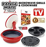 """Range Mate Pro Nonstick Microwave 5-in-1 Grill Pot/Pan Cookware Set """"As Seen On TV"""" (Grill, Bake, Roast, Saute, Steam, Poach, & One Pot Meals)"""
