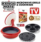"Cheap Range Mate Pro Deluxe Nonstick Microwave 5-in-1 Grill Pot/Pan Cookware Set""As Seen On TV"" (Grill, Bake, Roast, Saute, Steam, Poach, One Pot Meals) (Red)"