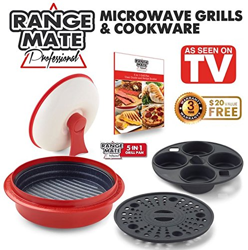 Range Mate Pro Deluxe Nonstick Microwave 5-in-1 Grill Pot/Pan Cookware Set