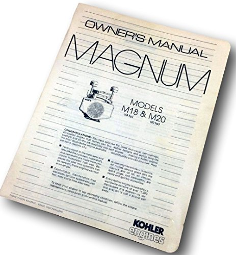 Kohler Magnum M18 18Hp& M20 20Hp Owners Operators Manual Twin 2 Cylinder (Kohler Magnum)