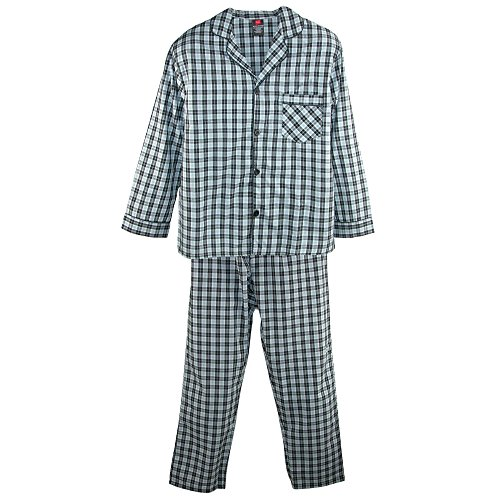 Hanes Men's Tall Size Long Sleeve Long Leg Pajamas, LT, Grey by Hanes
