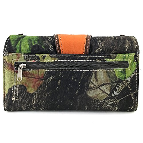 Rhinestone Wings Tree Messenger Camouflage Crossbody Purse and Only Buckle West Wallet Orange Justin Cross Branches Chain Bling q0XwEU