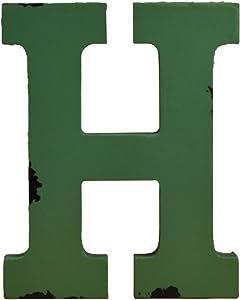 WINGONEER Multi-Color Wood Alphabet Letter Sign Name Kids Room Wedding Nursery Decoration - H