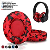 Beats Studio Ear Cushions by Wicked Cushions - Compatible with Studio 2 Wired/Wireless and Studio 3 Over Ear Headphones by Dr. Dre ONLY (Does NOT FIT Solo)   Red Camouflage