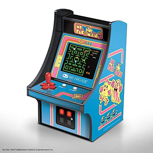 (My Arcade Ms. Pac-Man Micro Player - 6.75 Inch Mini Retro Arcade Machine Cabinet - Licensed Collectible)