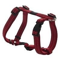 Arnés reflectante ajustable para perros H para perros pequeños y medianos; Collar y correa a juego disponibles, rojo