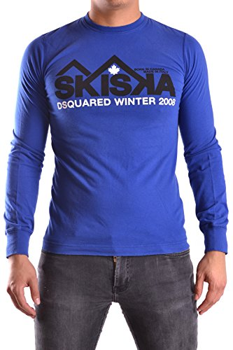 Dsquared2 Herren MCBI107018O Blau Baumwolle T-Shirt