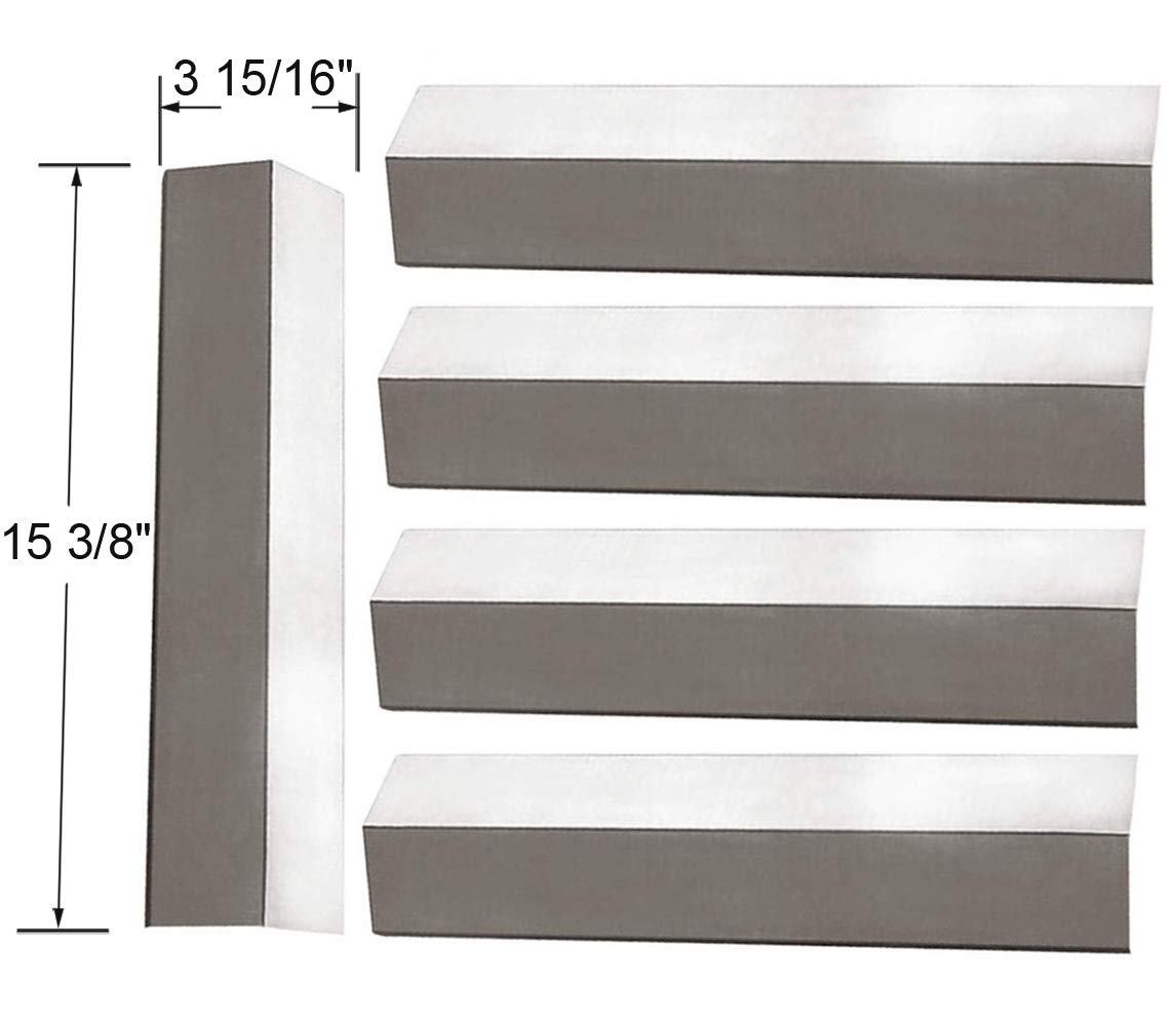 SH2311(5-pack) Stainless Steel Heat Plate for Aussie, Brinkmann, Uniflame, Charmglow, Grill King, Lowes Model Grills by BBQ funland