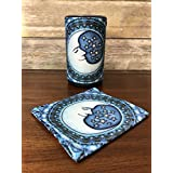 Fabric Cover for Amazon Echo (2nd Generation). Blue Moon by Dan Morris.