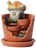 Winsome House Mushroom House Planter Miniature Fairy Garden