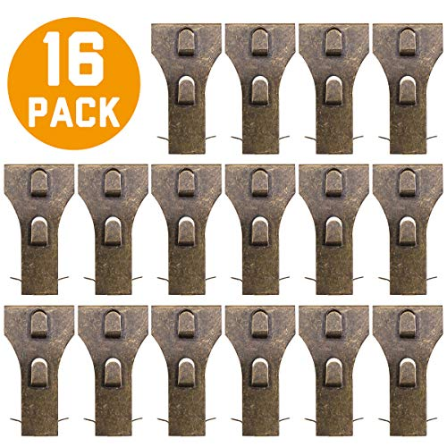 Brick Clips for Hanging, 16 Pack Spring Steel Hanger Exposed Brick Wall Hook Fastener Fits Brick 2-1/4 to 2-3/8 in Height