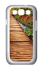 Nature Steps Custom Hard Back Case Samsung Galaxy S3 SIII I9300 Case Cover - Polycarbonate - White