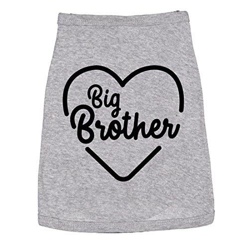 Dog Shirt Big Brother Cute Clothes for Family Pet (Heather Grey) - S]()