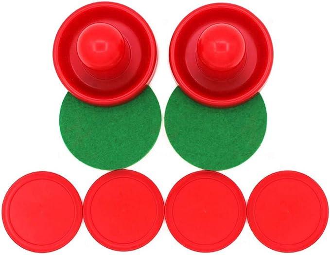 Rojo SUNREEK Empujadores de Hockey de Aire Juego de 2 y 4 Discos Rojos