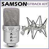 Samson G-Track USB Condenser Microphone Bundle with Samson SP04 Shock Mount