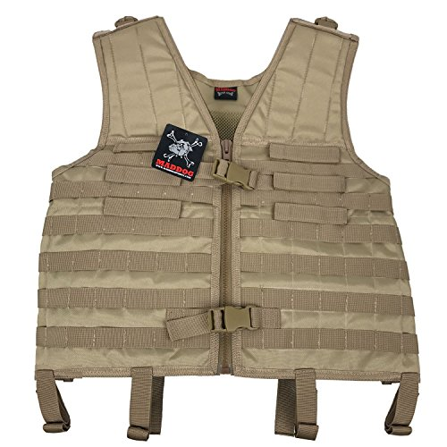 Maddog Tactical Milsim Molle Vest - Tan by MAddog
