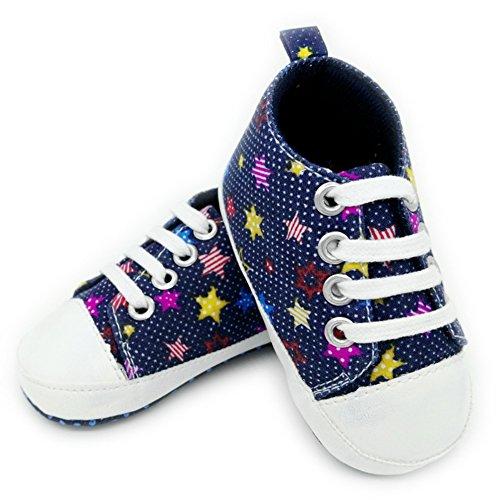 Leap Frog Stars Sneakers - Zapatos primeros pasos de Lona para niña azul marino