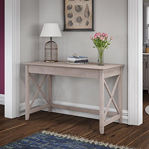 Bush Furniture Key West Collection 48W Writing Desk in Washed Gray by Bush Furniture