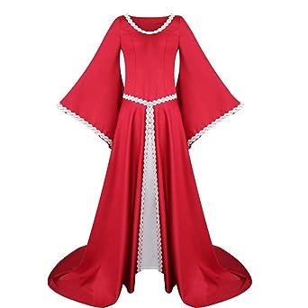 Vestido de Manga Larga para Mujer, Estilo renacentista, Estilo ...