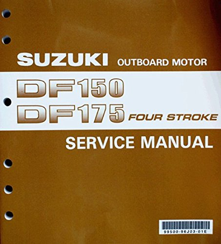 Suzuki Outboard (99500-96J03-01E) Genuine OEM Service Manual 4-Stroke 150-175 hp. 2006 thru 2010