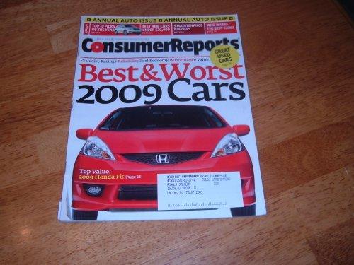 Consumer Reports Cars 2009 New Car Ratings & Reviews  April 2009