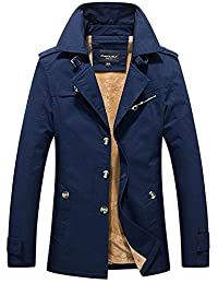 SZYYSD Mens Cotton Winter Warm Anorak Military Thick Jacket Coat Trenchcoats