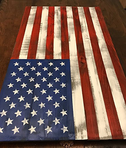 Reclaimed wood Flag, Wood American Flag 22x40
