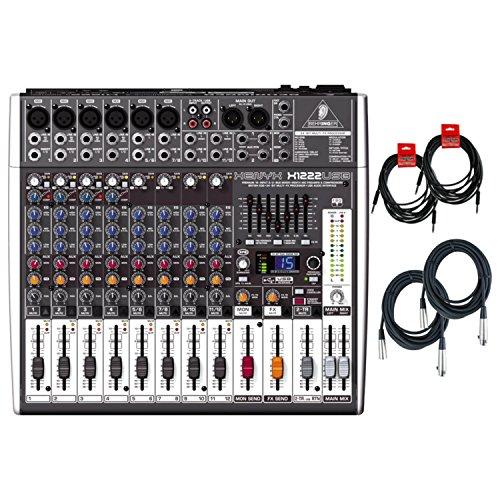 - Behringer Xenyx X1222USB Mixer w/ 4 Cables