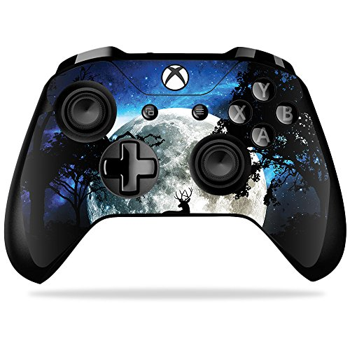 MightySkins Skin Compatible with Microsoft Xbox One X Controller - Moonlight Deer | Protective, Durable, and Unique Vinyl Decal wrap Cover | Easy to Apply, Remove, and Change Styles | Made in The USA