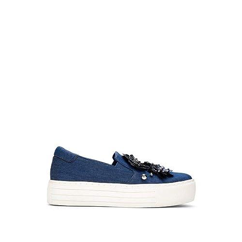 b3bff3330eb2f Kenneth Cole REACTION Women's Cheer Floral Applique Platform Slip on Sneaker