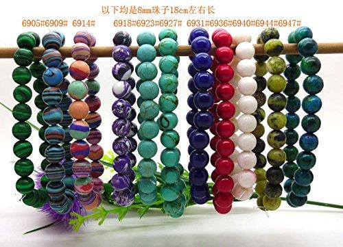 Taiwan malachite turquoise blue lapis lazuli coral pink purple turquoise stone bracelets Bracelet Phoenix