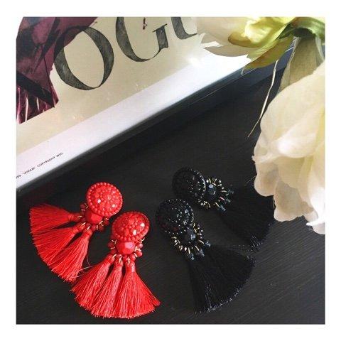 2-Pairs-Fashion-Bohemian-Statement-Thread-Tassel-Earrings-for-Women-Girls-Chandelier-Stud-Drop-Dangle-Earring