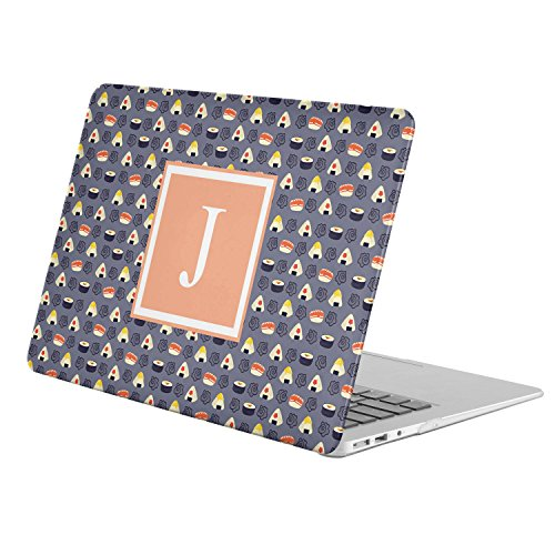 Display Sushi Case ([ J - INITIAL ] [ Name Monogram Full Body Hard Case ][ MacBook Pro 13-Inch with Retina Display (Model A1425 / A1502) ] - [ Sushi Pattern ])