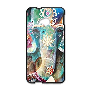 Colorful flowers elephant Cell Phone Case for HTC One M7