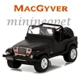 Baby Toy - Macgyver Car- Nice Macgyver 1987 Jeep Wrangler YJ 1/64 Diecast MATTE BLACK Car for Kidds Baby Best Birthday Gift