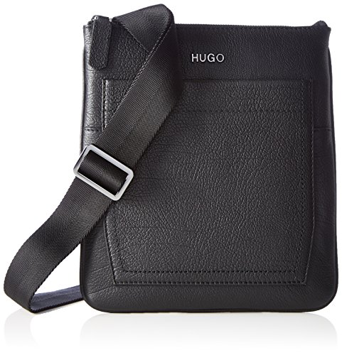 Hugo Men Twin_s Zip Env 10202062 01 Borsa A Spalla, Nera (nera), 0.5x26x23 Cm