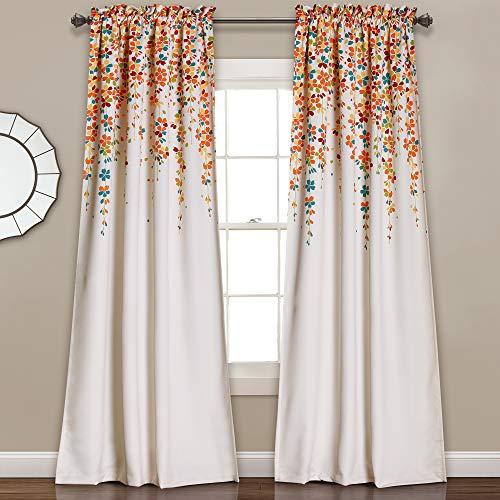 Lush Decor Weeping Flower Room Darkening Window Curtain Pane