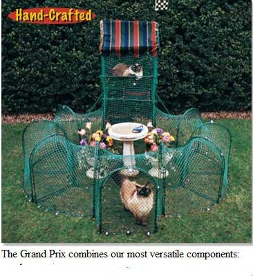Kittywalk Grand Prix Outdoor Cat Enclosure - Green