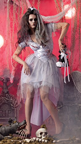 Party King Womens Zombie Bride Costume (Zombie Costume For Female)