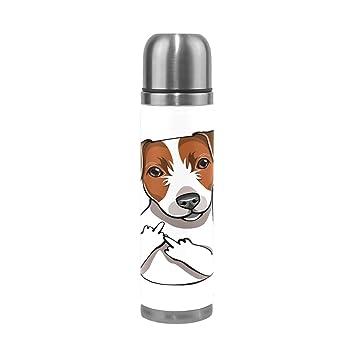 Amazon.com: ALAZA dedo medio perro botella de agua ...